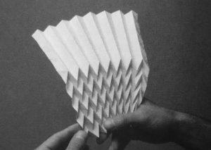 Falttragwerk Referenzbild für das Falttagwerk ausgehend von Origami.