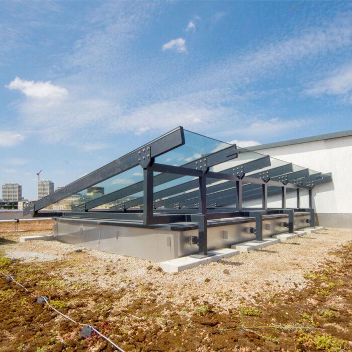 Glasdach für LGZ, ERZ Entsorgung+Recycling Stadt Zürich